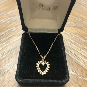 Pucci's Diamond Heart Necklace